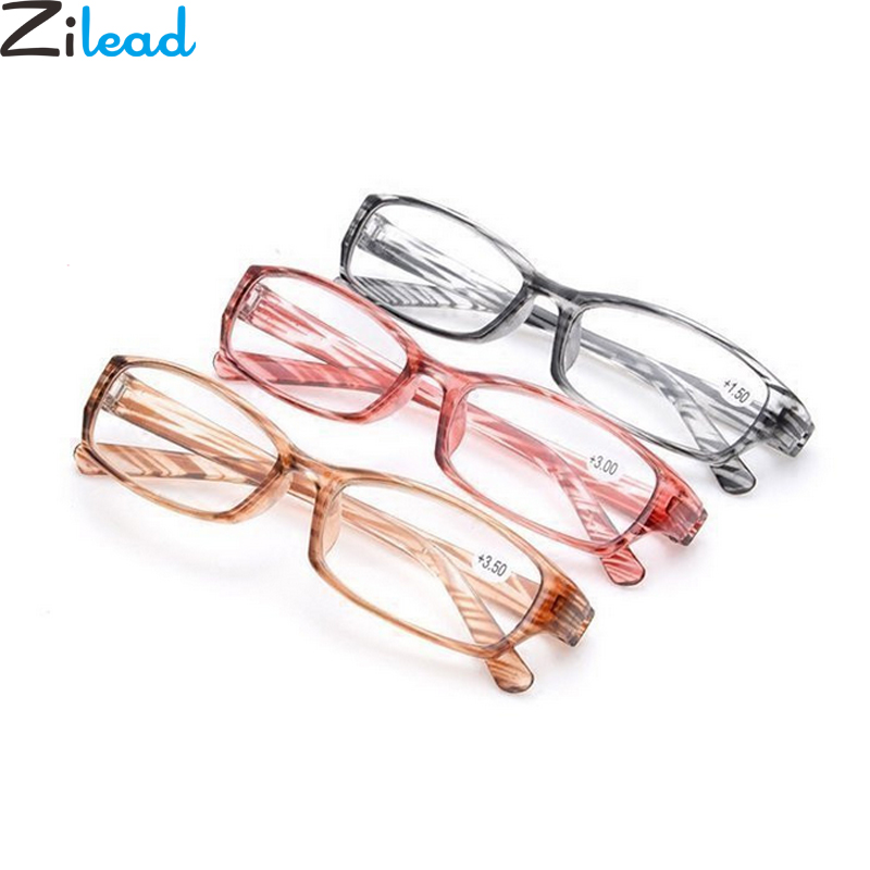Zilead Ultra-light Stripe Reading Glasses Clear Leans Magnifying Presbyopic Glasses Eyeglasses Oculos Gafas For Women&Men