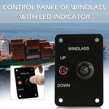 Boat Anchor Windlass UP/DOWN Toggle Switch Control Panel Red Indicator 12V 15A
