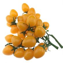 Gresorth 2 Pack Artificial Yellow Cherry Tomatoes Decoration Fake Tomato Home Kitchen Party Christmas Display
