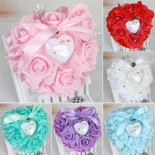 Brand New Style Favor Heart Shaped Wedding Ring Box