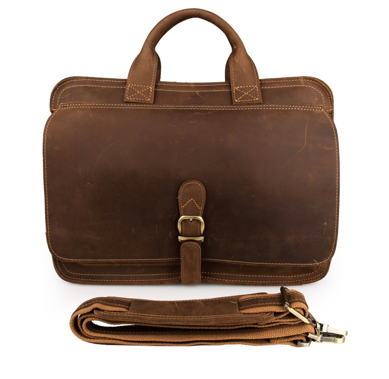 Male Genuine Leather Briefcase Handbag 724-40 Multifunctional Large Capacity Men's Gift Father Husband Gift Commercial Briefcase