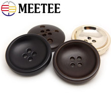 50pcs High-grade coffee factory spot black nylon four eyes pale gold button suit coat jacket buttons