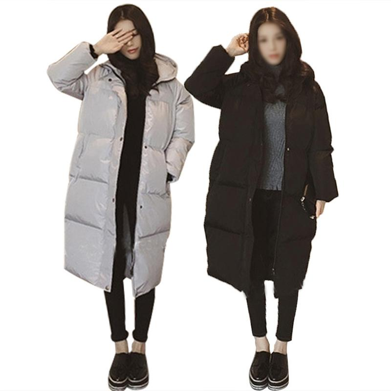 Winter Women Warm Thicken Hooded Cotton Padded Female Coat Long   Parka   Jackets