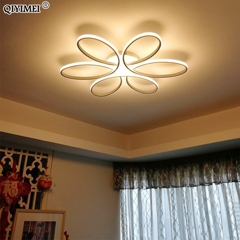 Remote control Ceiling Lights for living room bedroom White balck body Color Home Deco Lamp AC90-260V Home lighting fixture