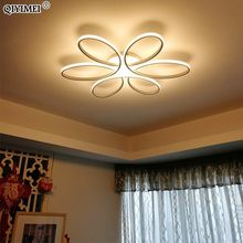 Remote control Ceiling Lights for living room bedroom White balck body Color Home Deco Lamp AC90-260V Home lighting fixture(China)