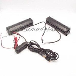 Стробоскоп COB 16 см, полицейский светодиодный предупреждающий фонарь, крепление для автомобильного гриля, дневные ходовые огни ДХО, красный, синий, белый, янтарный