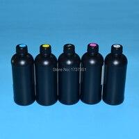 500ml Rigid LED UV Ink for Epson R1800 R1900 4800 4880 7880 9880 UV Flatbed Printer for Epson DX5 DX6 DX7 Printhead