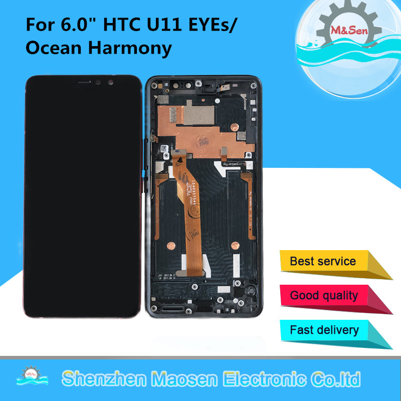 """M&Sen For 6.0"""" HTC U11 EYEs/Ocean Harmony LCD Display Screen+Touch Panel Digitizer Screen Frame AssemblyFor HTC U11 EYEs Display-in Mobile Phone LCD Screens from Cellphones & Telecommunications    1"""