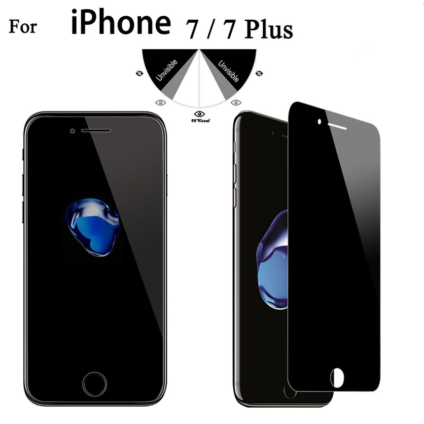 9H 2.5D Privacy Tempered Glass Screen Protector For iPhone X XS XR XS max 4 4S 5 5S SE 5C 7 8 Plus Privacy Film Good Quality