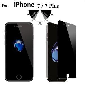 Image 3 - 9 h 2.5d privacidade vidro temperado protetor de tela para o iphone x xs xr xs max 4 4S 5 5S se 5c 7 8 mais filme de privacidade boa qualidade