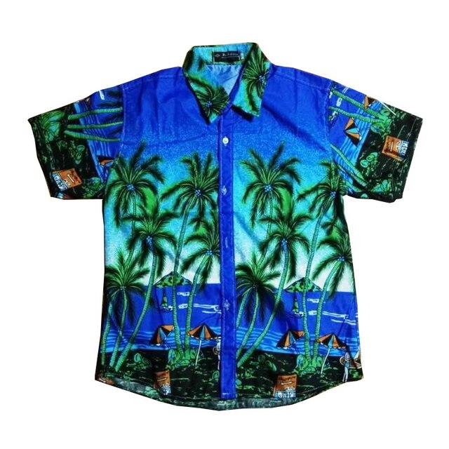8312b03fc1d FDWERYNH Mens Beach Hawaiian Shirt Tropical Summer Short Sleeve Shirt Men  Casual Loose Cotton Button Down