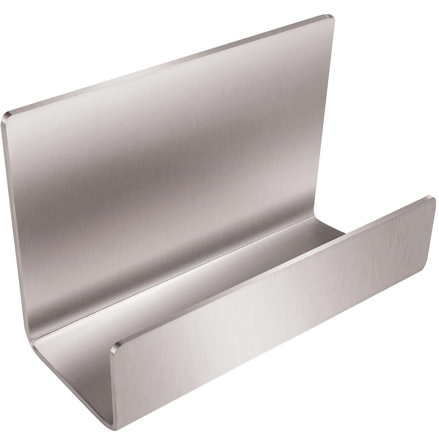 PPYY NEW -Full Stainless Steel Office Business Card Holder Name Card Stand Display (Silver)