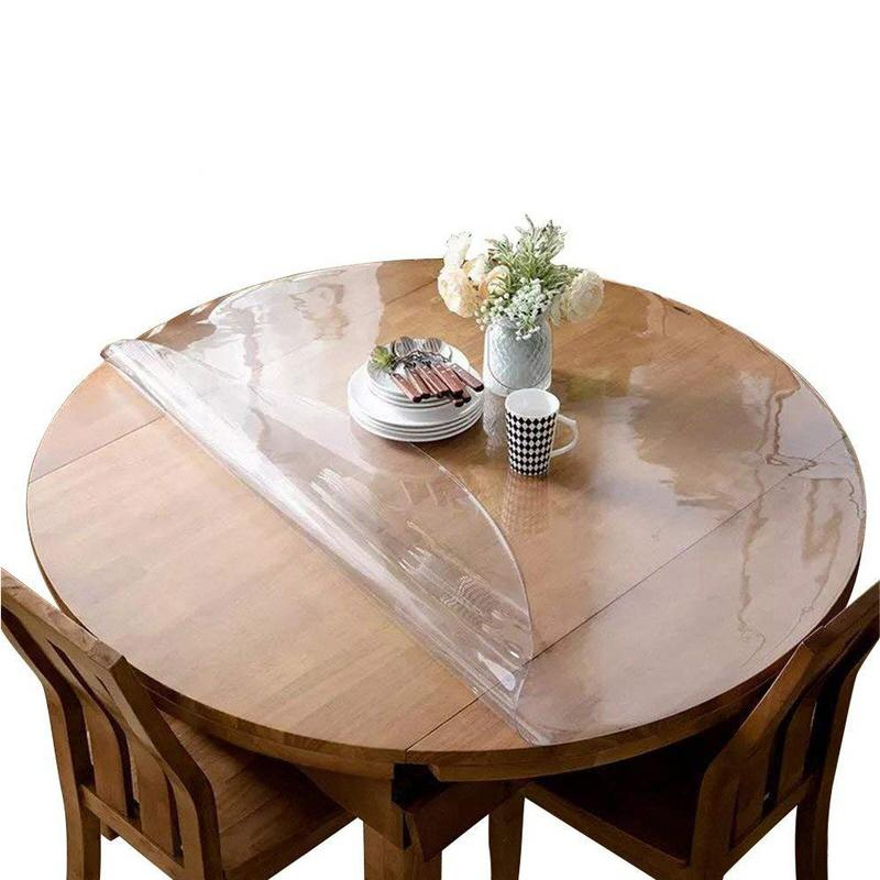 Crystal Clear Table Top Protector Plastic Tablecloth