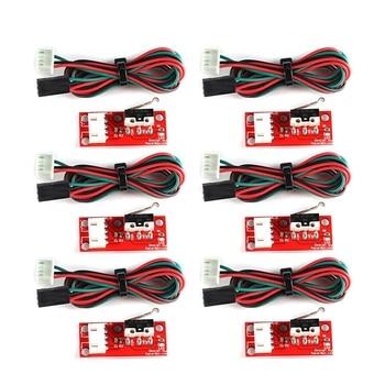 цена на 6Pcs Mechanical Endstop Limit Switch Press Switch Module For 3D Printer Makerbot Prusa Mendel Reprap Cnc Arduino Mega 2560 128