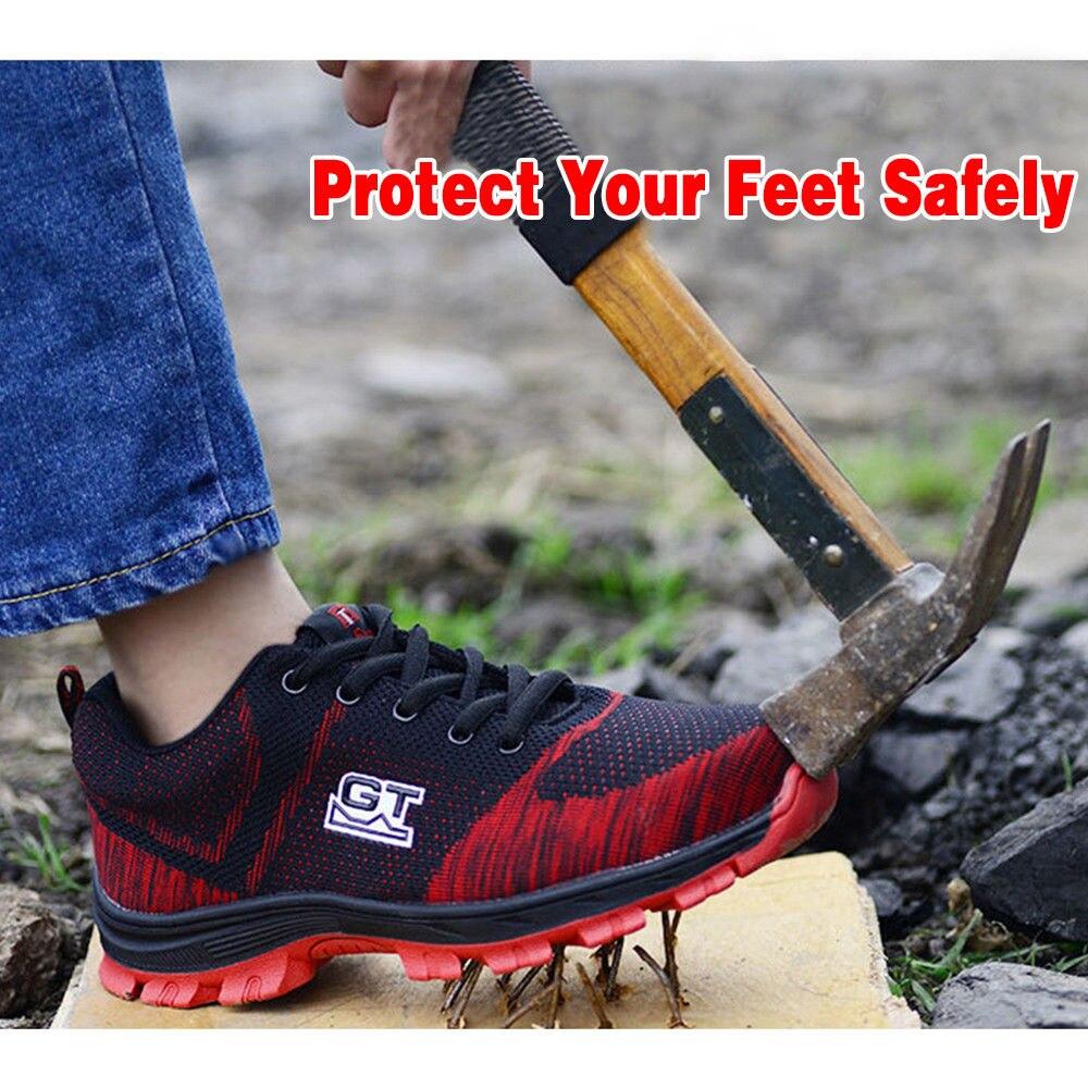 ZuverläSsig Nis Große Größe Leichte Anti-smashing Stahl Kappe Männer Arbeiten Sicherheit Schuhe Männer Atrego Arbeit Stiefel Klettern Wandern Schuhe Turnschuhe