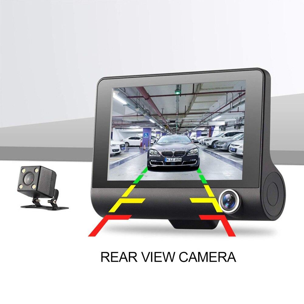 Driving-Recorder Three-Lens Night-Vision Rear-View 4inch HD Reversing-Image