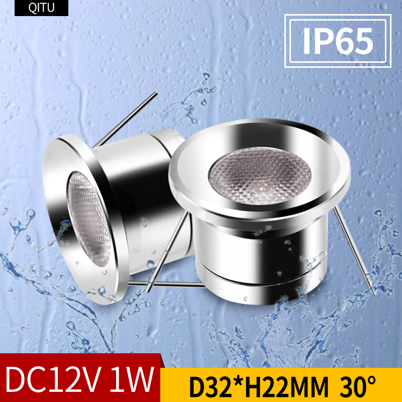Spot IP65 Waterproof 12V Built-in Led Spotlight Embedded Bathroom Ceiling Window Shower Room Focus Light Bathroom Mini Downlight