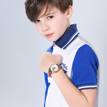 Disney marka Mickey Mouse kobiety zegarki damskie męskie skórzane zegary kwarcowe zegarki dla dzieci dla dziewczynek chłopcy oryginalny prezent Box