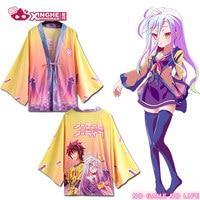 Milky Way no game no life Sora Shiro Kimono Girl Japanese Womens Cosplay Haori Cardigan Harajuku Haori Coat Cosplay Costume