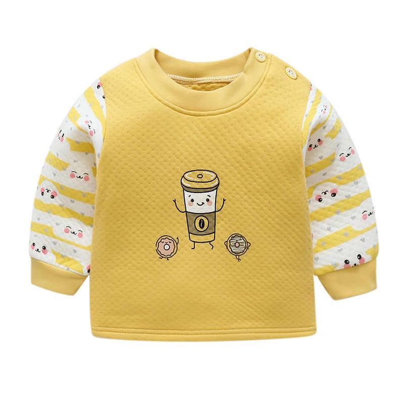 Luna Blanco baby jassen lange mouw Unisex pasgeboren katoenen baby meisje kleding winter 2018 o-hals baby boy winterjas