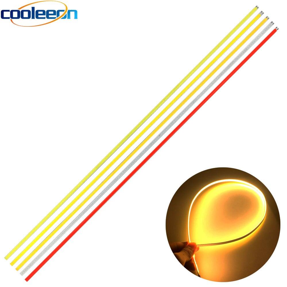 10pcs 600mm Dimmable LED COB Strip 12V 20W Lamp For Car Lighting Decor Bulbs Red Blue White Color 60cm Bendable LED Bar Lights
