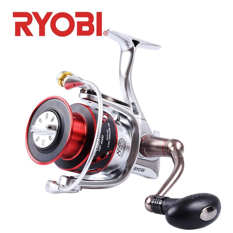 RYOBI ZAUBER PRO HP 8 + 1BB Carretilhas de Pesca Spinning Wheel Gear Ratio 5.1: 1/5. 0:1 auto-bloqueio alça carretel de pesca de Água Salgada
