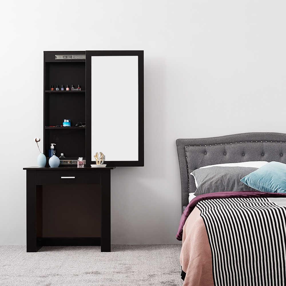 Panana Wooden Sliding Mirror Dressing Table Hiding Storage Shelves Stool Drawer Bedroom Furniture Makeup Desk Aliexpress