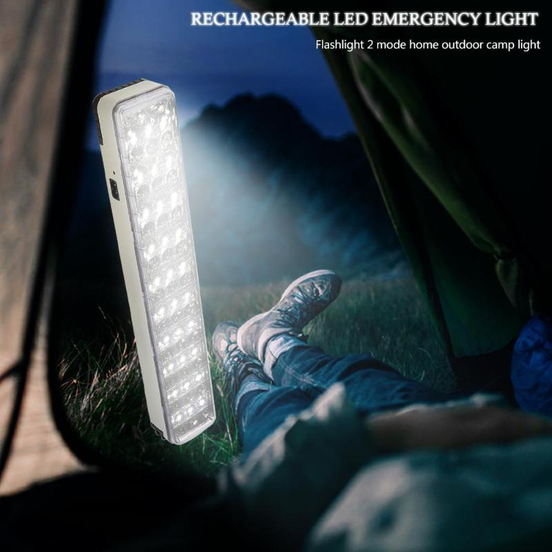 New 60LED Multi-function Rechargeable Emergency Light Flashlight Mini 30 LED Emergency Light Lamp 2 Mode For Home Camp Outdoor