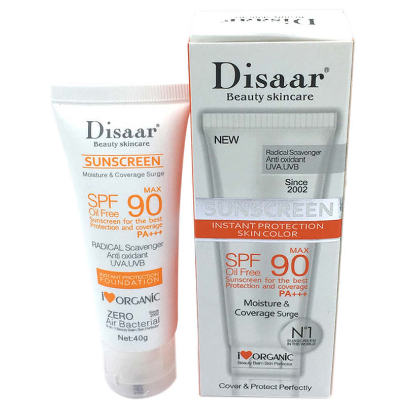 Disaar Skincare Facial Sunscreen With Long Lasting Waterproof Concealer Bb Cream Control Oil Antioxidant Sunscreen Spf90++ Sun