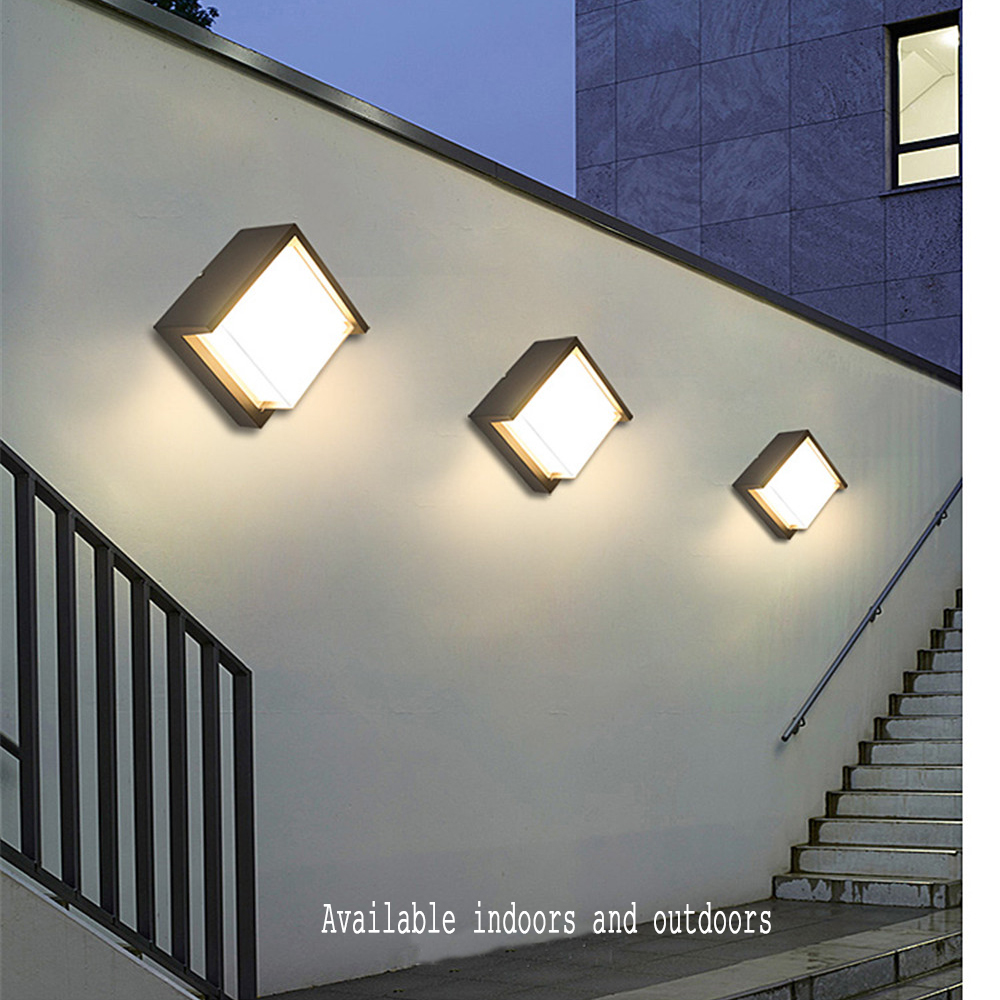 AC85 265V 15W LED Wall Light Waterproof IP66 Porch Light Modern LED Wall Lamp Radar Motion Sensor Courtyard Garden Outdoor Light in LED Indoor Wall Lamps from Lights Lighting