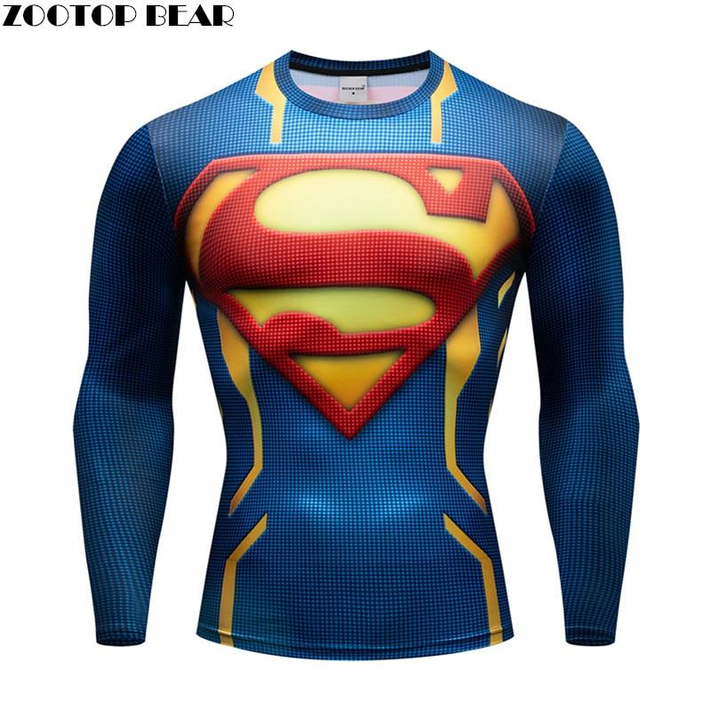 Spiderman T Shirt Men Compression Superhero 3d Print Rashguard Quick Dry Breathable Fitness Spring Shirt Long Sleeve Zootop Bear