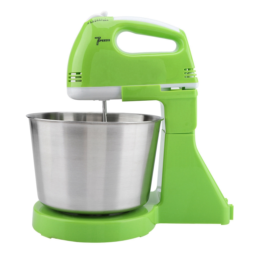 Image 2 - 230v 7 Speed Automatic Whisk  Hand Food Mixer Electric Stand Mixers Handheld Flour Bread Egg Beater Blenders with Bowl EU PlugFood Mixers   -