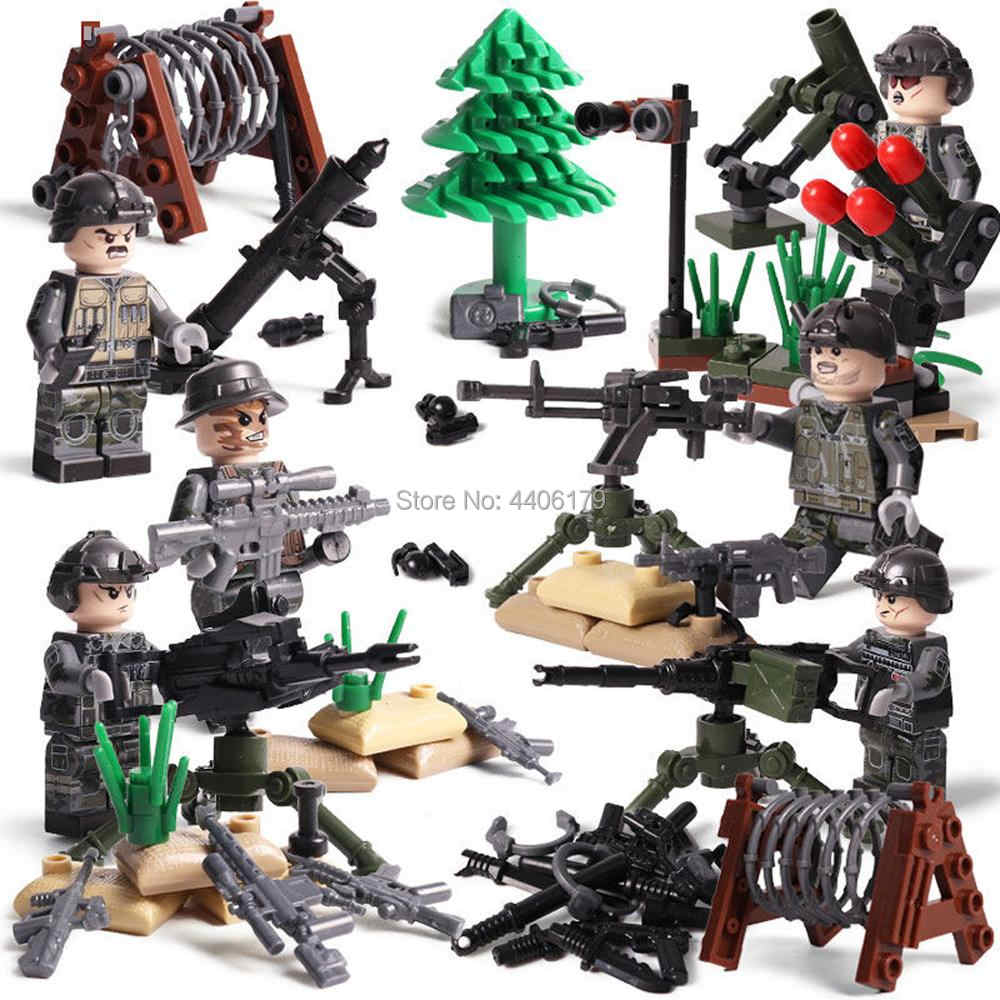 hot LegoINGlys military WW2 Special forces Border assault war MOC Building Blocks model mini army figures guns bricks toys gift