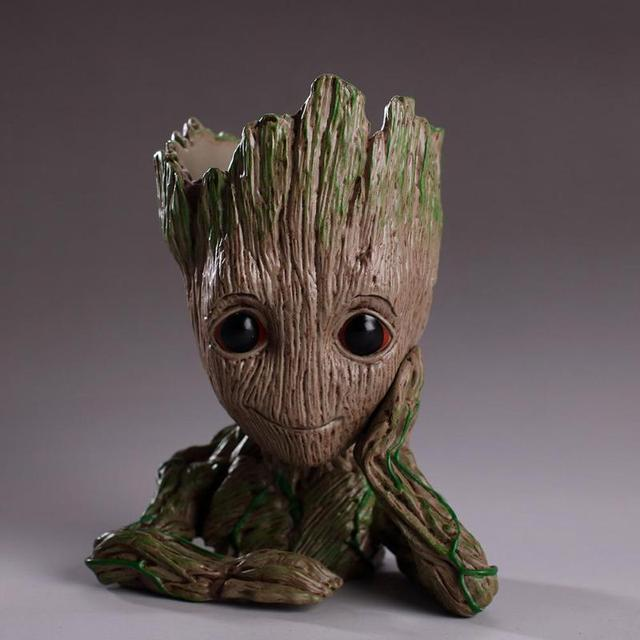 Baby Groot Flowerpot Flower Pot Planter Action Figures Guardians of The Galaxy Toy Tree Man Cute Model Toy Pen Pot