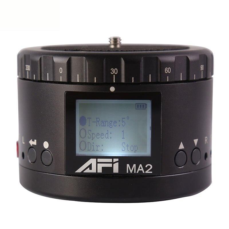 Top AFI Ma2 360 Temps Accéléré Caméra Vidéo Rotateur Panorama Trépied Tête LED Pour Canon Nikon Sony Dslr Téléphone 360 timelapse Panoramique