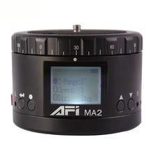 Top AFI Ma2 360 Time Lapse Video Camera Rotator Panorama Tripod Head Led For Canon Nikon Sony Dslr Phone Timelapse Panning