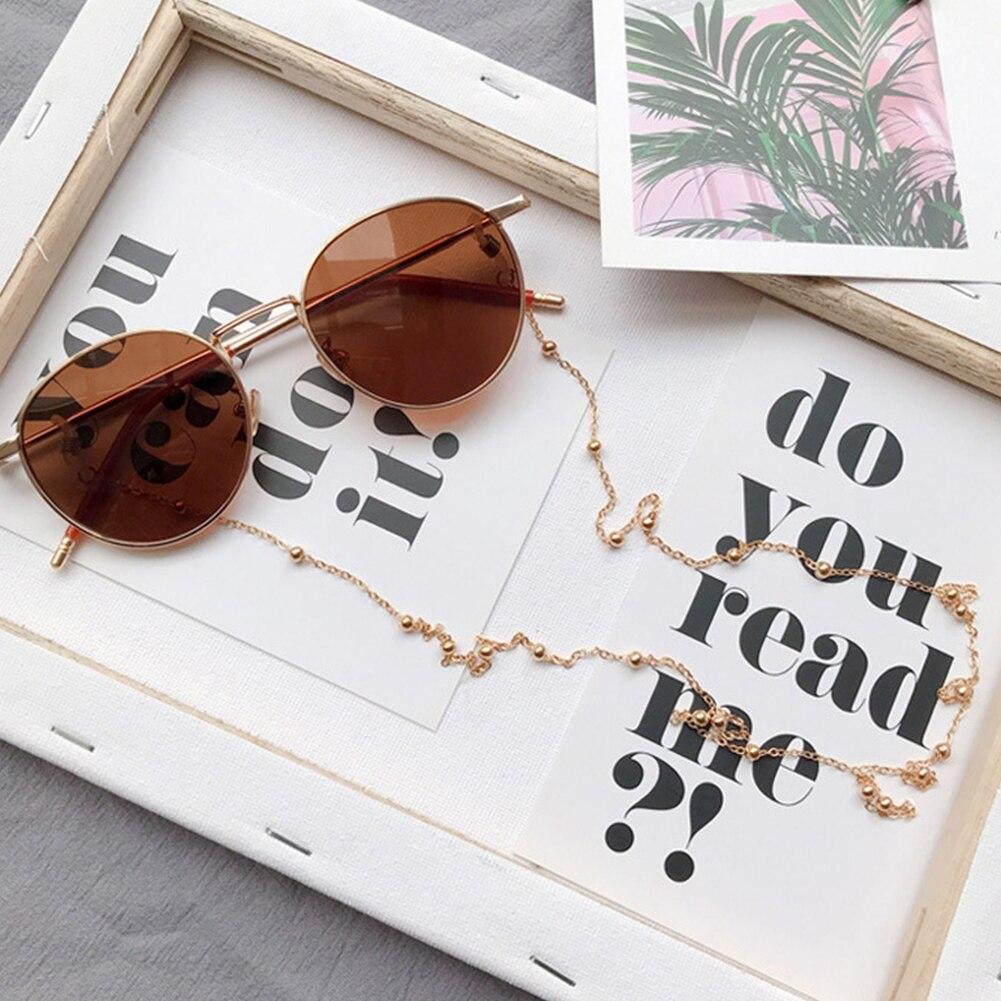 Women Sunglasses Chains Eyeglass Beaded Reading Eyewear Cord neck strap Rope Silver Gold Lanyards Brillenkoord