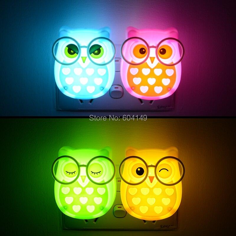 Lights & Lighting Owl Animal Nightlight Auto Light Control Sensor Lamp Indoor Lighting Us Plug Socket Lamp Led Night Light For Baby Room Led Night Lights
