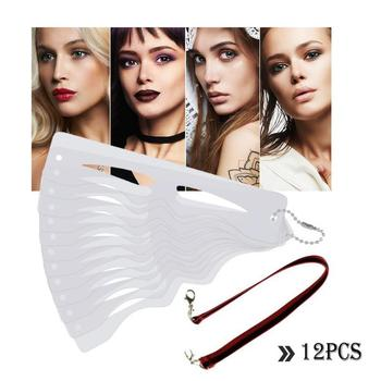 12pcs/set Eyebrow-shaped Permanent Mold Template Card Eyebrow Tattoo Stencil Card Makeup Tools
