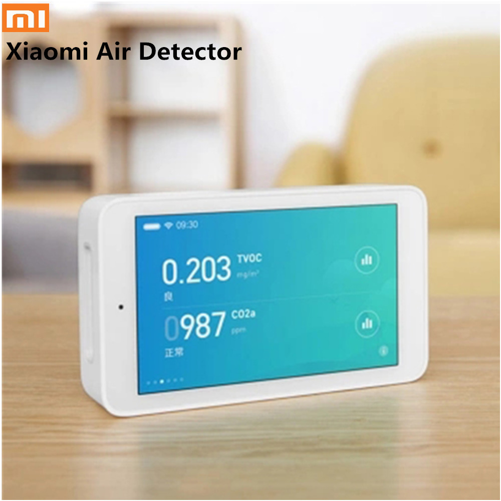D'origine Xiaomi Mijia Détecteur D'air Qualité Moniteur 3.97 Pouces Écran interface usb PM2.5 TCOV CO2a Testeur Humidité Smart Sensor