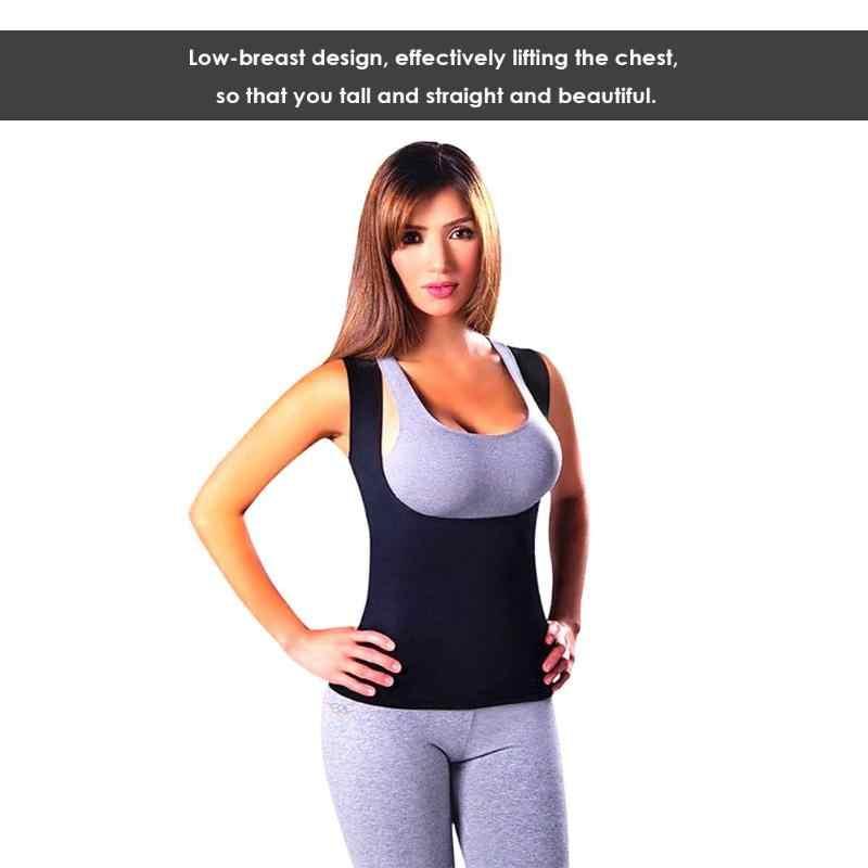 عرق محدد شكل الجسم التخسيس مدرب خصر Cincher سترة النساء للتنحيف الأسود النيوبرين تنحيف اللياقة البدنية مدرب خصر الصدرية