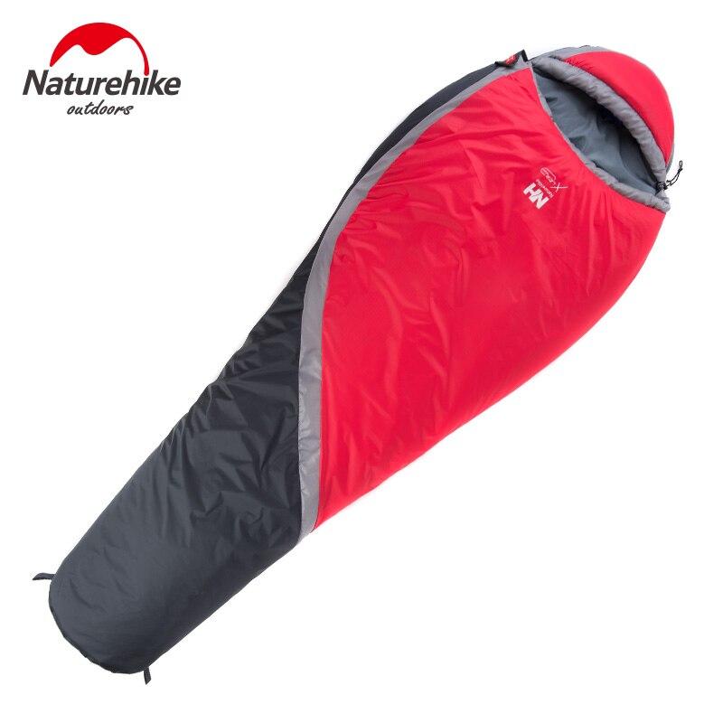 NatureHike цена от 0 до 5 градусов зимний Мумия спальный мешок для кемпинга Пешие прогулки путешествия может быть молнии вместе - 3