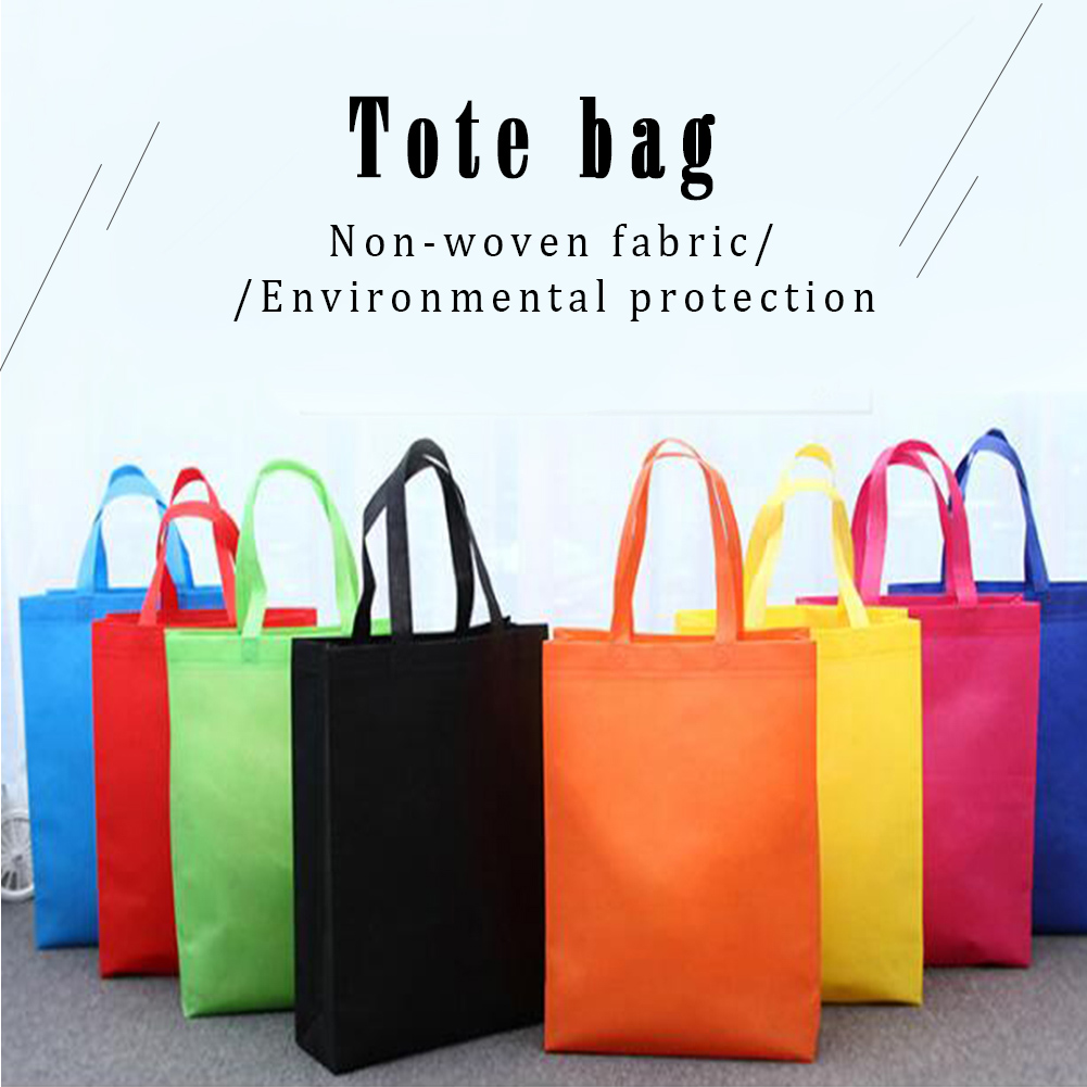 Portable Reusable Non-Woven Shopping Bags Large Capacity Foldable Tote Grocery Bags Eco Friendly Bags Convenient Storage Handbag