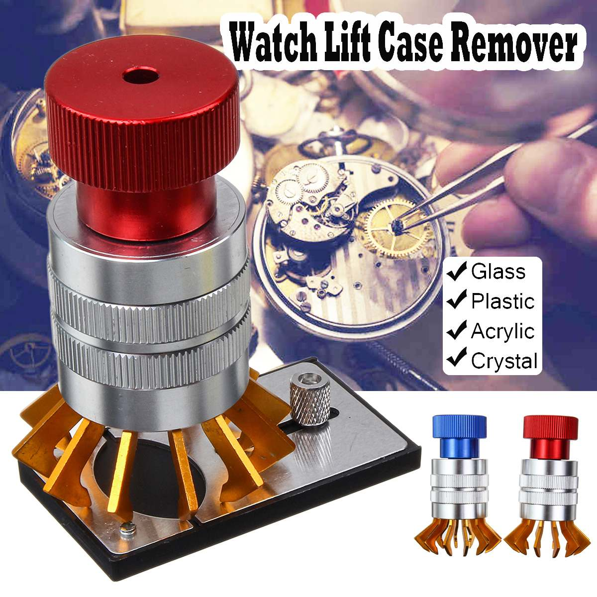 Watch Plastic Crystal Watchmaker Lift Front Case Remover Inserter Watch Glass Remove Replace Repair Opener ToolWatch Plastic Crystal Watchmaker Lift Front Case Remover Inserter Watch Glass Remove Replace Repair Opener Tool