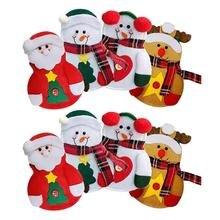 8 шт. держатель столовых приборов снеговик/Санта Клаус/Лось Рождественский держатель столовых приборов Карманный Рождественский нож посуда