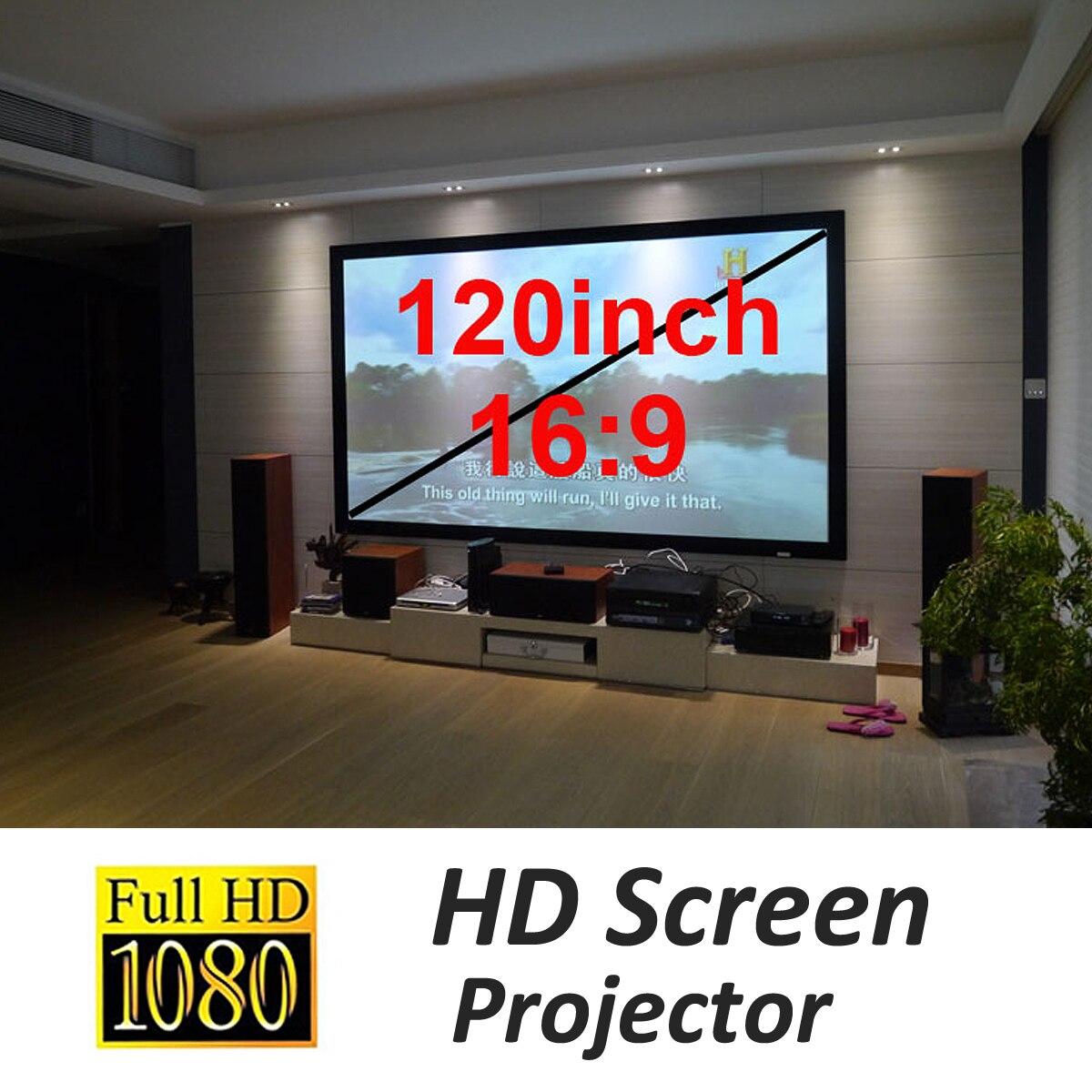 1 pc 120 pouces HD Projecteur Écran Flexible Pliable Écran De Projection pour Home Cinéma Portable Écran