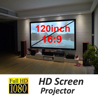 1Pc 120inch HD Projector Screen Flexible Foldable Projection Screen for Home Theater Portable Screen
