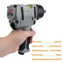 Professional 1/2 inch Twin Hammer Air Impact Wrench Pneumatic Socket Set Compact Gun tool Pneumatic Tools