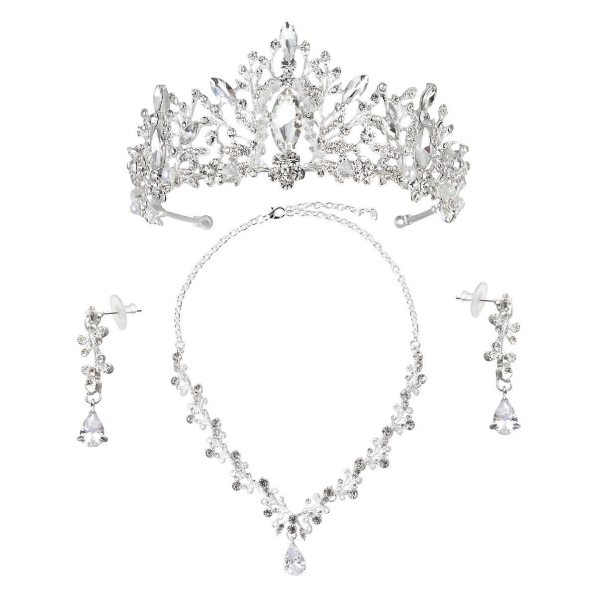 1set Bridal Headdress Crown Hair Band Hair Hoop with Artificial Rhinestone Wedding Bridal Headpiece Hair Wedding Accessories in Hair Jewelry from Jewelry Accessories