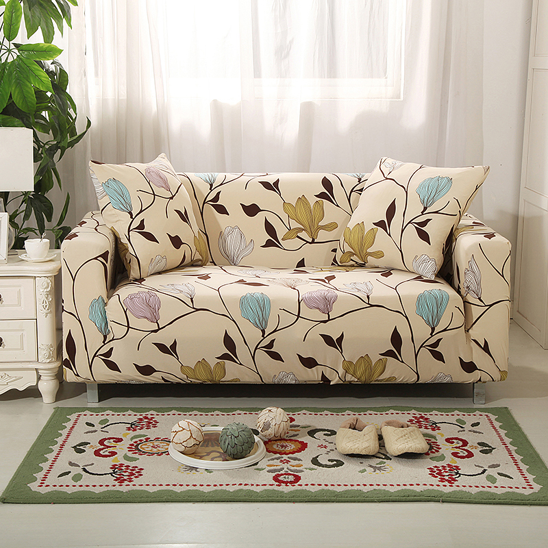 24colors Slipcover Floral Sofa Covers Suitable For Four Seasons For Living Room Furniture Protector Elastic Loveseat Couch Cover